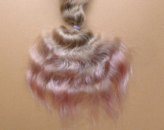 Combed mohair 1/2oz/ 10 inches / Doll Hair / Combed mohair for doll hair/ Blythe Doll