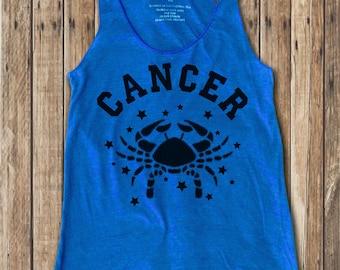 Cancer Zodiac  print  Women's Racerback Tank Top