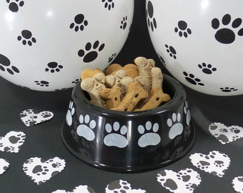 Party Supplies - Table Confetti - Dog Birthday Party - Dog Party - Dog Party Supplies - Heart Confetti - Paw Print Confetti - Pet Party