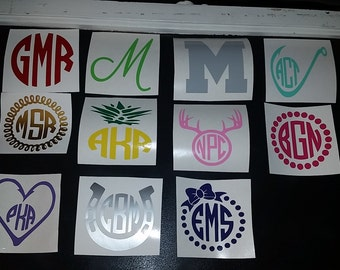 4 inch Vinyl Letters|Vinyl Numbers|Vinyl Circle Monogram|Vinyl Decal Initials|Custom Vinyl Monogram|Vehicle Monogram|Project DIY Decal