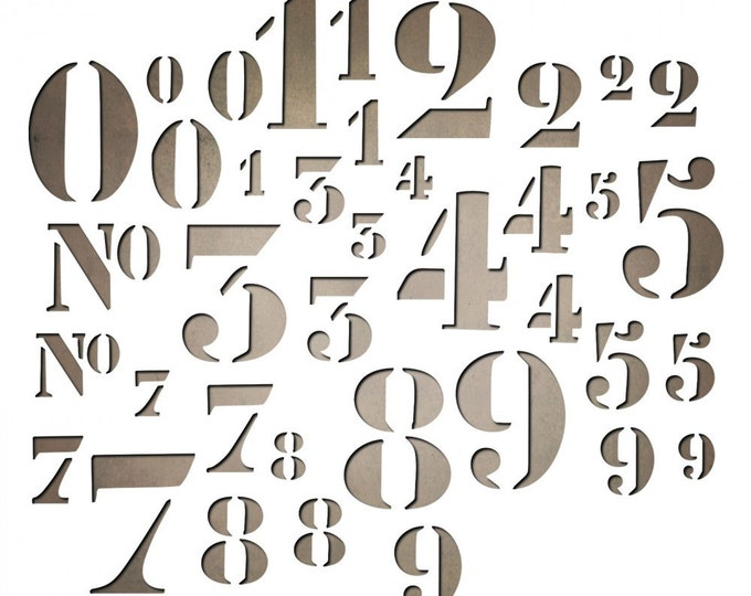 New! Sizzix Tim Holtz Thinlits Die Set 38PK - Stencil Numbers