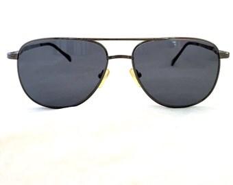 Vintage Aviator Mens Eyeglasses, Bronze Frame Prescription Lenses Sunglasses, Men's Glasses, Coke Bottle , Metal Eyewear, Designer Frames