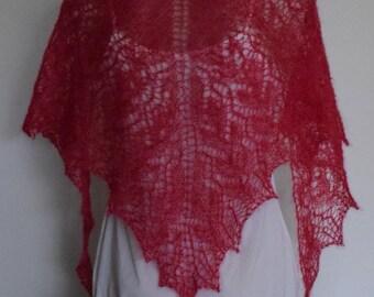 Kidsilk haze hand knitted shawl