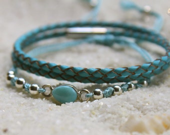 Larimar Ocean Bracelet