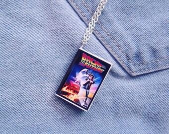 Collana miniatura libro Ritorno al futuro - Back to the future book necklace