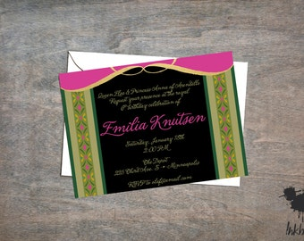 Princess Ana Invitation (25 Invitations)