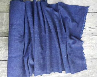 hand woven natural indigo dyed cotton fabric by the meter (H7)