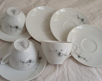 Vintage Royal Doulton Greenbrier 3 Cups and 5 Saucers