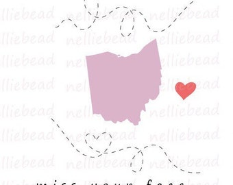 Ohio State SVG Digital cut files - Long Distance Relationship - Use with Cricut or Silhouette Studio