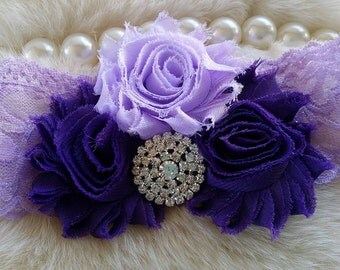 Purple Headband/Toddler Headband/Girl Headband/Newborn Headband/Easter Headband/Birthday Headband/Baby Headband/Flower Girl Headband
