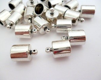 8 mm Silver Shiny End Cap_PA320709218_Supplies_Ends_PASS_Of 8 mm_ pack 12 pcs