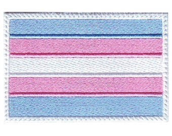 Transgender Gay Pride Flag Embroidered Patch