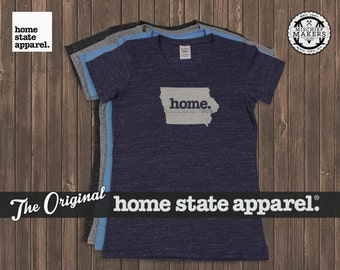 Iowa Home. T-shirt- Womens Cut