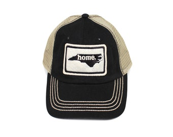 All 50 States Available: Home State Apparel Trucker Cap - Black
