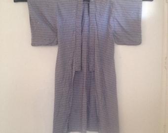 Vintage Cotton Kimono Yukata 50s Asian
