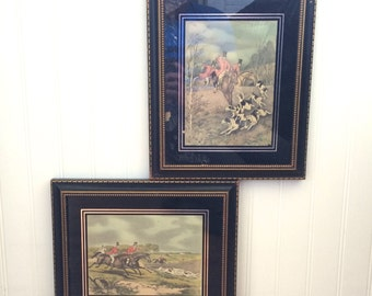 Vintage Hunting Prints: Hand Painted by Hadley Frost