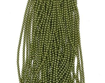 2mm Czech Glass Pearl - 10158 Green Apple x 300pcs