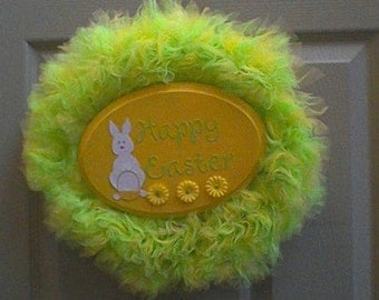 Happy Easter Tulle Wreath
