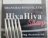 """2.5mm 6"""" Hiya Hiya Sharp Steel Double Pointed Needles (DPN)"""