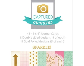 Kaisercraft Captured Moments Double-Sided Journal Cards 3x4 Sparkle