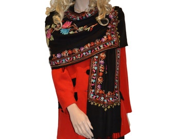 Scarf/Scarves/Shawl/Shawls/Embroidery Shawl from Cashmere Pashmina Group (16)