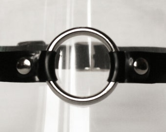 Latex Studded O Ring Latex Collar