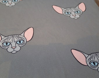 SALE ... Sphynx Cat clothing -Sphynx Grey  tops available in Sizes Kitten, Small, Med & Large