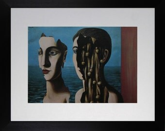 "Mounted and Framed - The Double Secret / Le Double Secret Print by Rene Magritte - 14"" x 11"""