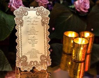 Acrylic Menu Wedding Stationeries Mirror Or Color Acrylic