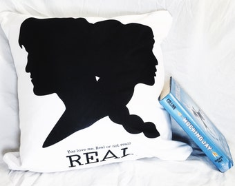 "Hunger Games Inspired ""Real or Not Real"" Pillow"