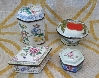 Choice Cloisonne Boxes, From Tiny to Miniature, 4 Styles