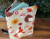 Whimsical woodland.  A fabric passport cover.  Passport sleeve.