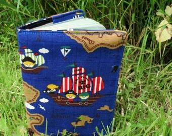 Pirates.  A nautical passport cover.  Passport sleeve.