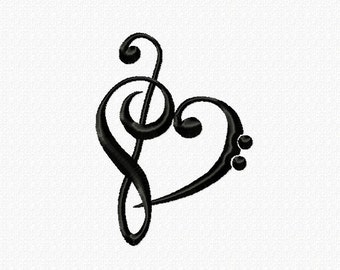Embroidery pattern - Music Love