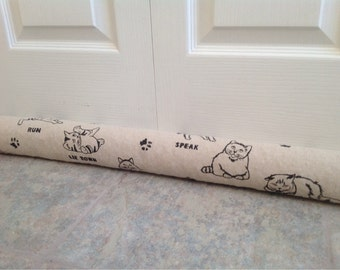 kitty cat long door draft stopper draught stopper long draft excluders home decor energy saver cat lovers low noise  snake