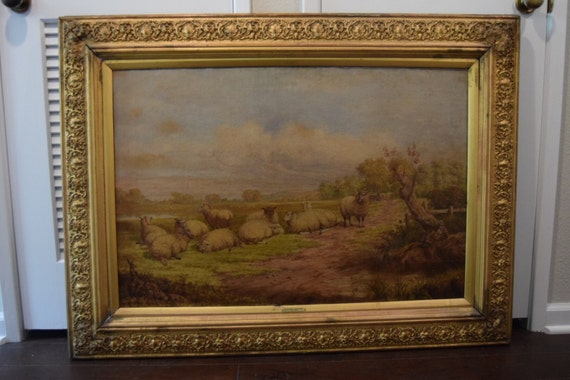 Antique Joseph Penn Painting 46x34 - SM