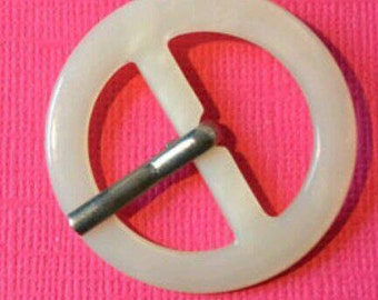 Cream Belt Buckle