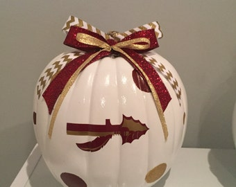Florida State craft pumpkin