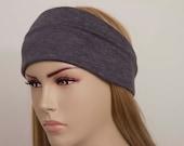 Yoga headband , woman headband  ,ear warmer, dark grey