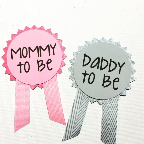 baby shower pins name tags mommy to be