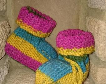 Rainbow snuggle boots