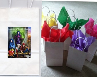 Disney Descendants party favor goody bags personalized set of 10