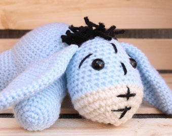 Baby Eeyore Crochet Stuffed Animal/ Crochet Eeyore/ Baby Eeyore/ Stuffed Animal/ Nursery Decor/ Made To Order