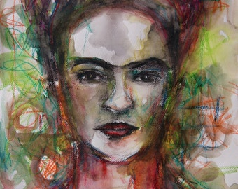Sale ! Different 2 FRIDA Prints for the price of one! a3 size on silk matt paper