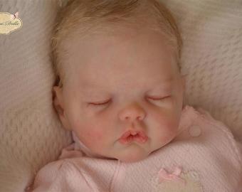 "Vinyl reborn baby newborn doll KIT ""Adelynn"" by Emily Jameson"