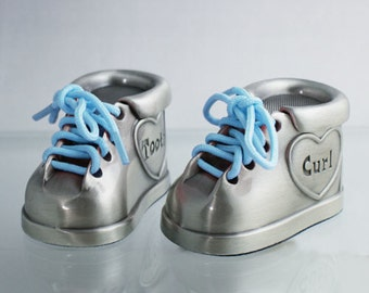 Personalized Engraved Tooth & Curl Booties