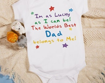Personalized Im as lucky as can be baby bodysuit