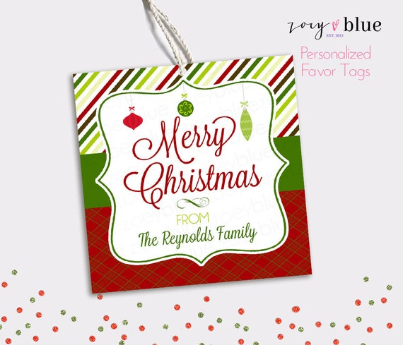 Personalized Christmas Gift Tags: Personalized Christmas Hang Tags