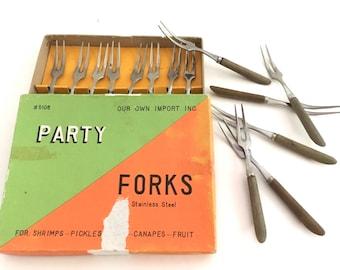 Appetizer forks etsy for Canape forks