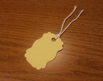 20 Cream Tags, Hanging Labels, Hang Tags, Card Stock, Gift Tags, Gift Bag Tags